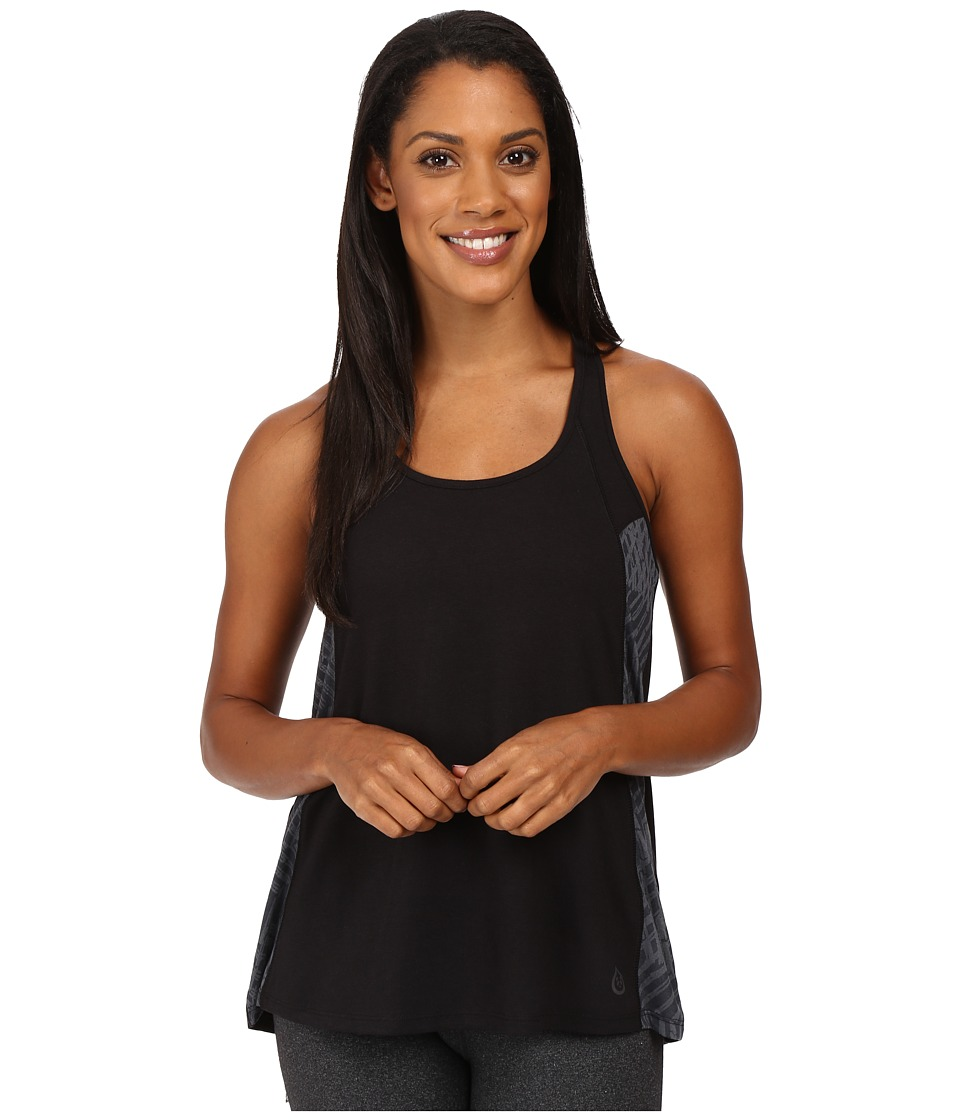 tasc Performance - Falaya Tank Top (Black/Oh My Dash Gunmetal Burnout) Women's Sleeveless
