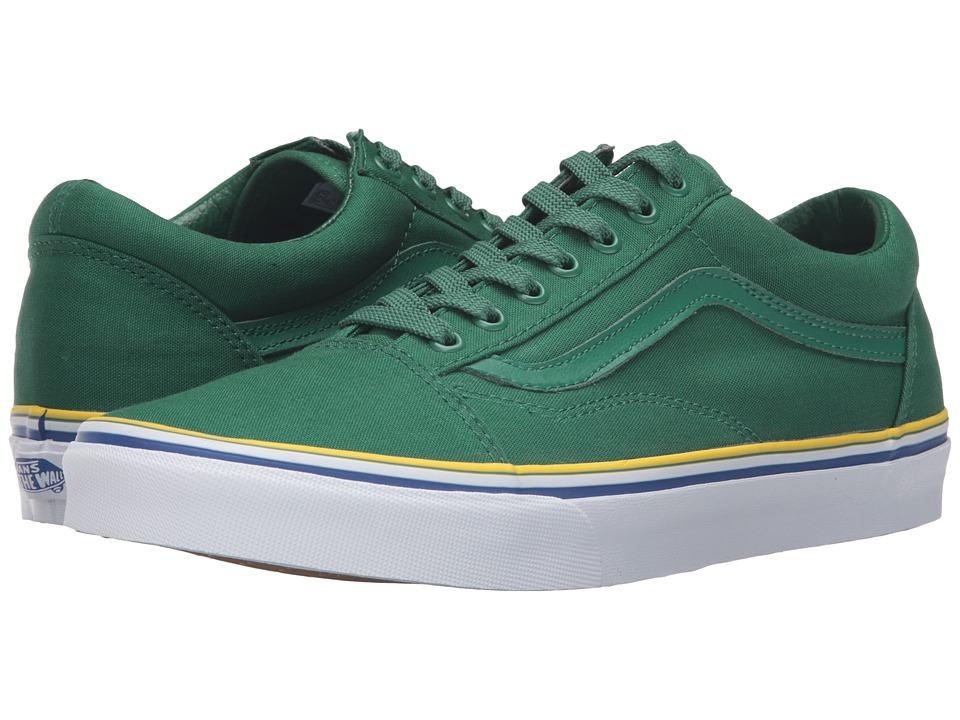 Vans - Old Skool 2016 Games ((Summer 2016) Green/Blue/Gold) Skate Shoes