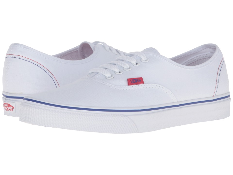 Vans - Authentic 2016 Games ((Summer 2016) True White/Red/Blue) Skate Shoes