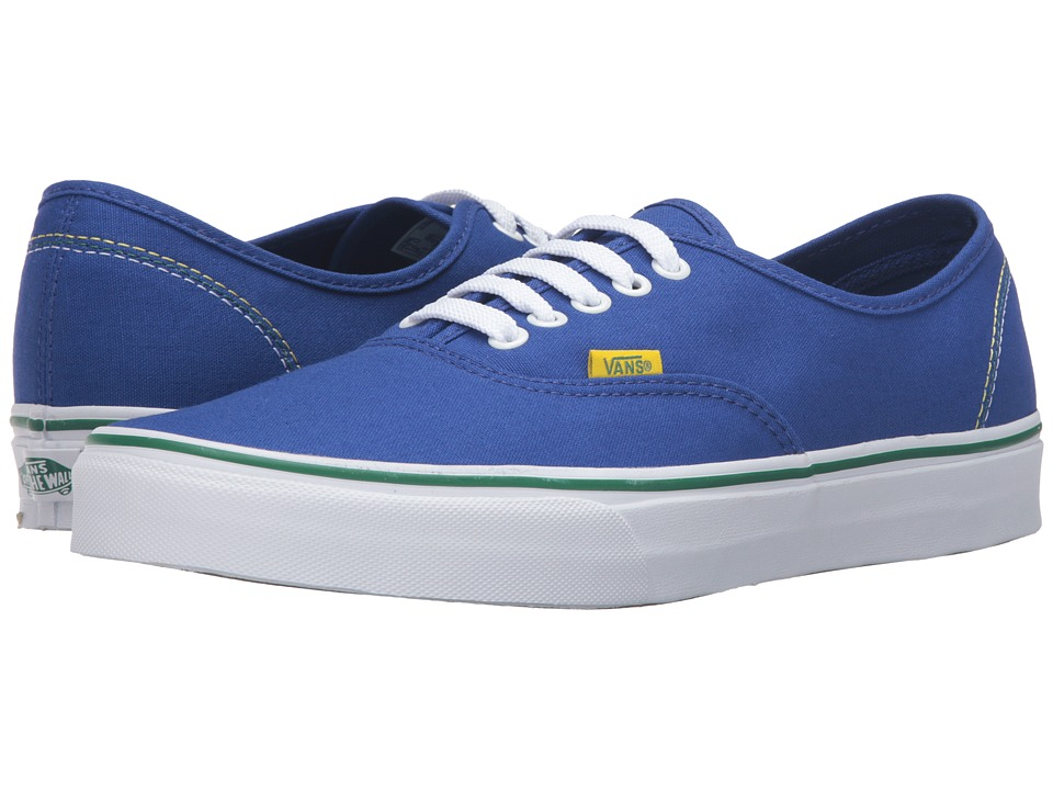 Vans - Authentic 2016 Games ((Summer 2016) Blue/Gold/Green) Skate Shoes