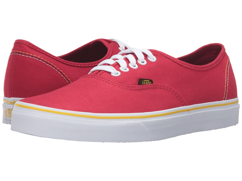 Vans - Authentic 2016 Games ((Summer 2016) Red/Black/Gold) Skate Shoes