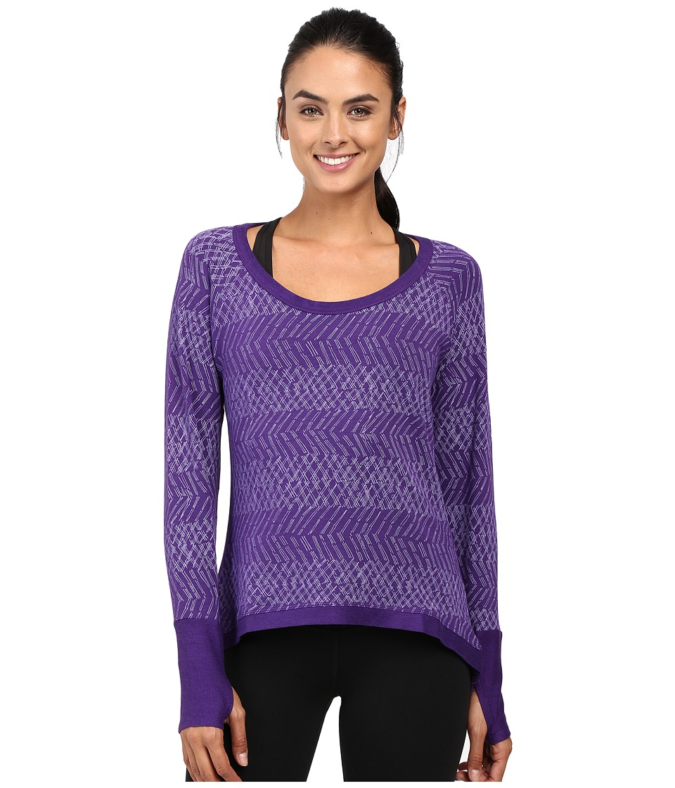 tasc Performance - Bywater High-Low Pullover (Oh My Dash Plumberry) Women's Long Sleeve Pullover