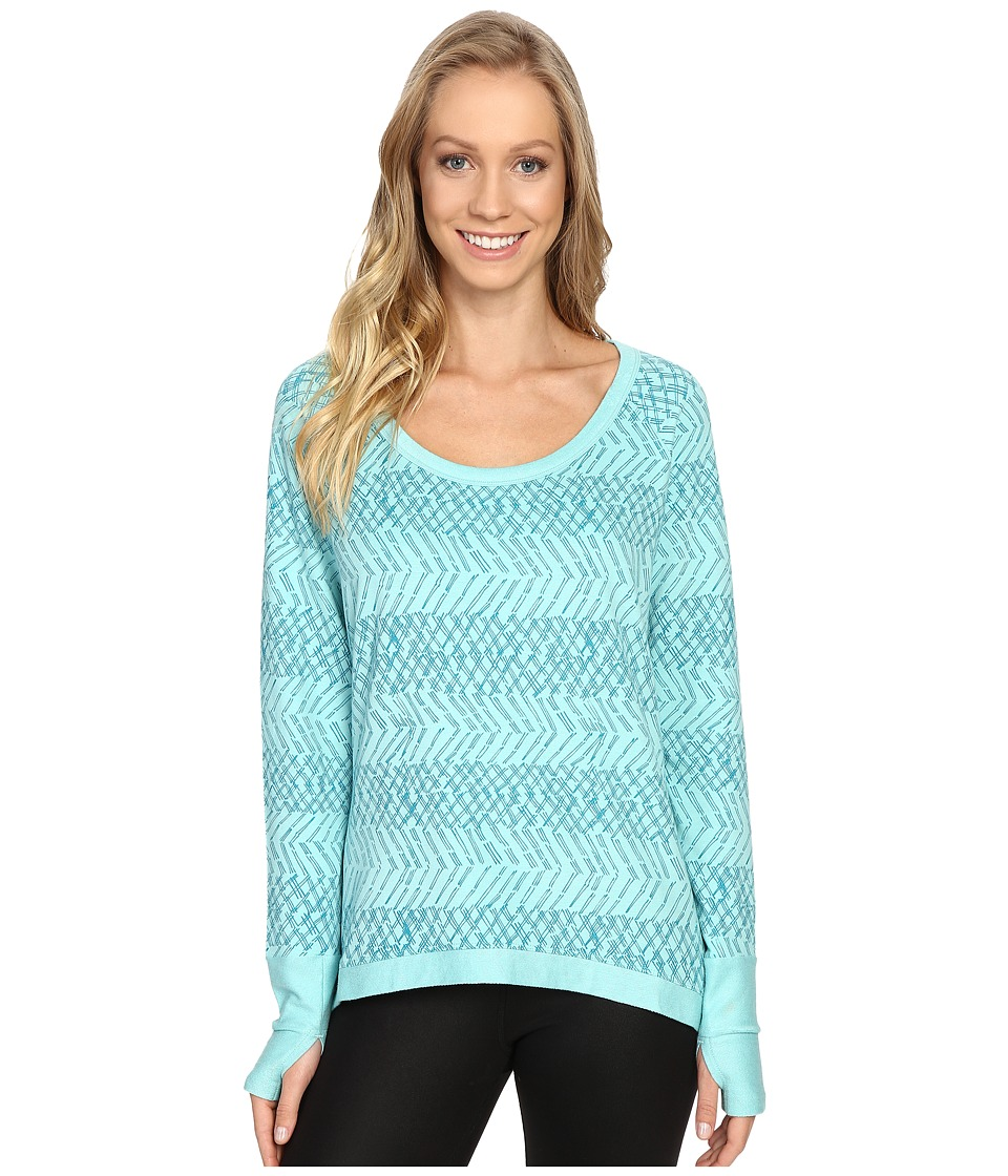 tasc Performance - Bywater High-Low Pullover (Oh My Dash Monsoon) Women's Long Sleeve Pullover