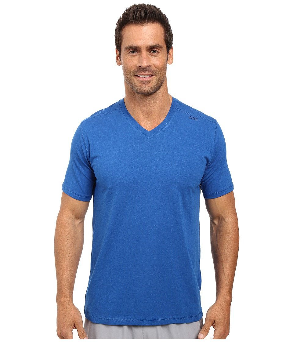 tasc Performance - Vital V-Neck (Cobalt) Men's Workout