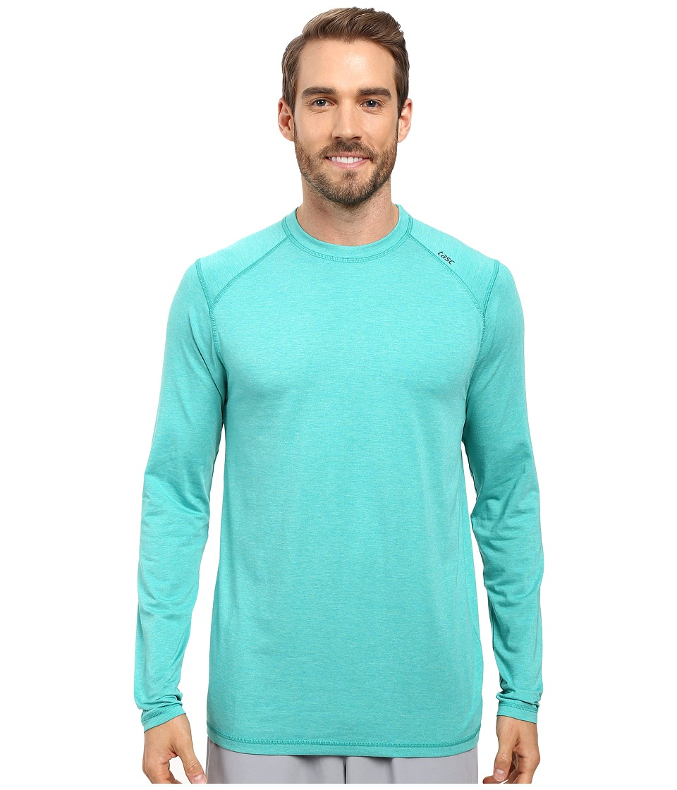tasc Performance - Beaver Falls Long Sleeve Shirt (Maldives Heather) Men's Long Sleeve Pullover