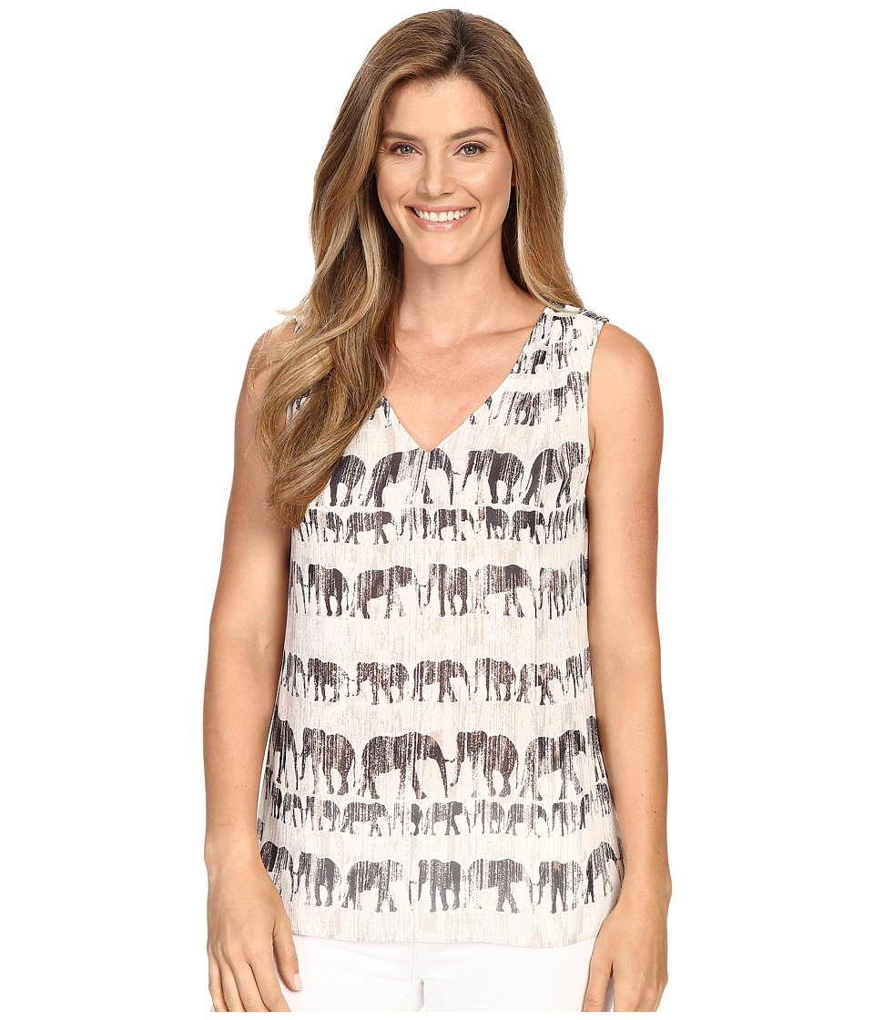 NIC+ZOE - Elephant March Tank Top (Multi) Women's Sleeveless