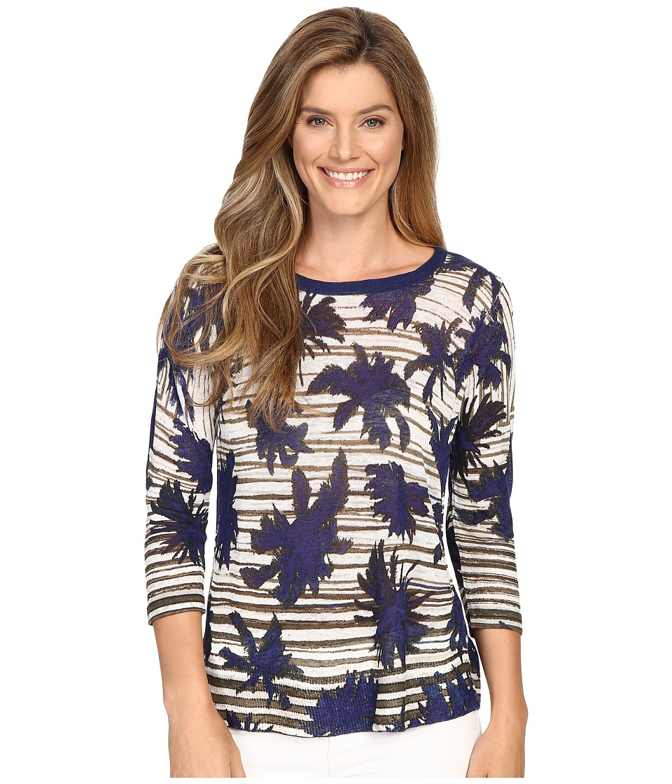 NIC+ZOE - Palm Tree Top (Multi) Women's Clothing