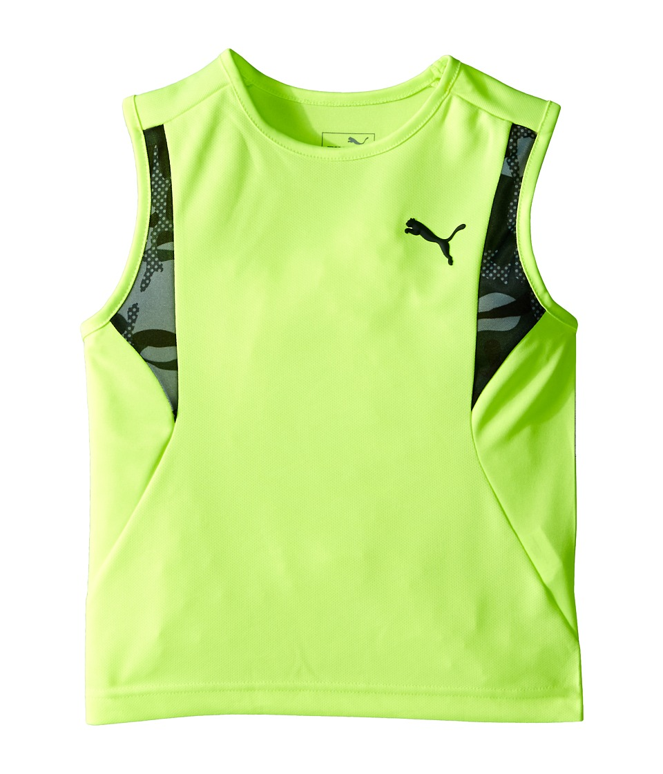 Puma Kids - Camo Blocked Muscle Shirt (Little Kids) (Acid Yellow) Boy's Sleeveless