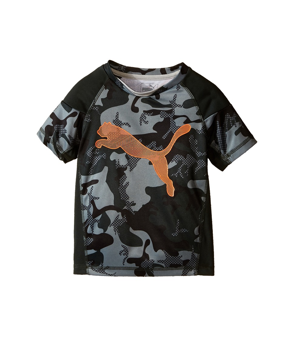 Puma Kids Camo PUMA Tee (Little Kids) (Army Green) Boy