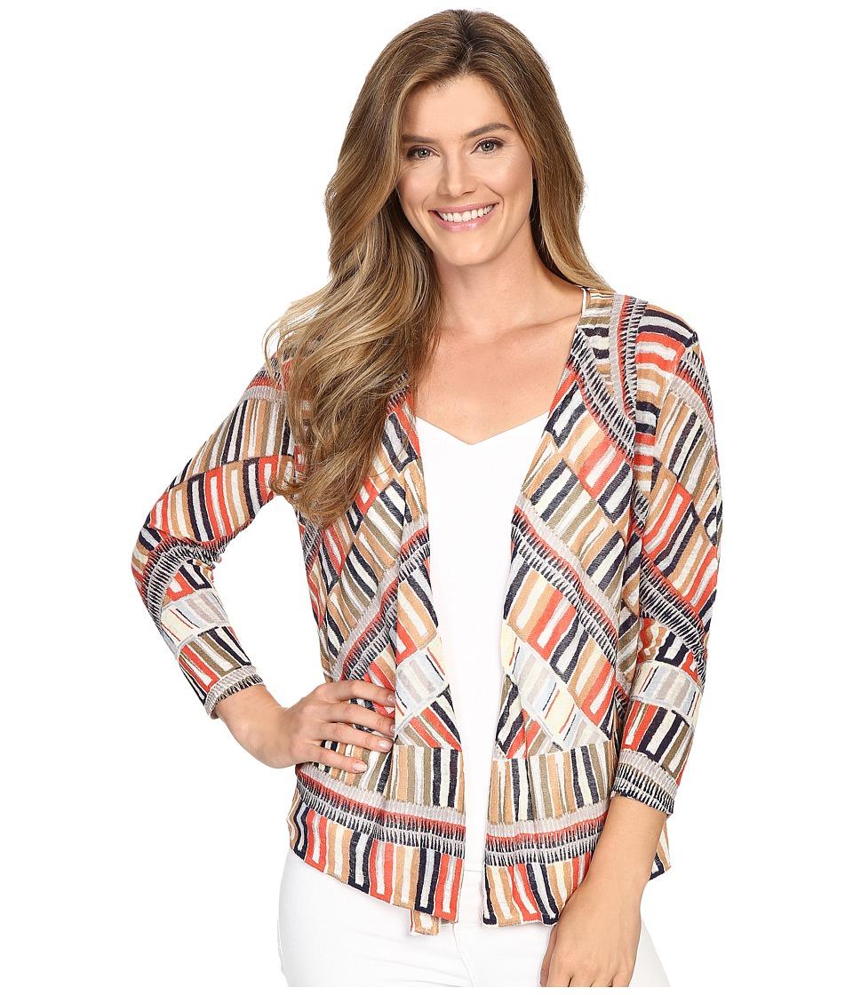 NIC+ZOE - Sahara Squares Cardy (Multi) Women's Sweater
