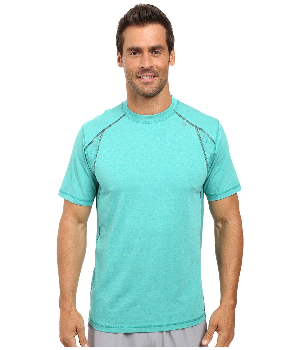 tasc Performance - Circuit Short Sleeve Top (Maldives Heather/Gunmetal) Men's Short Sleeve Pullover