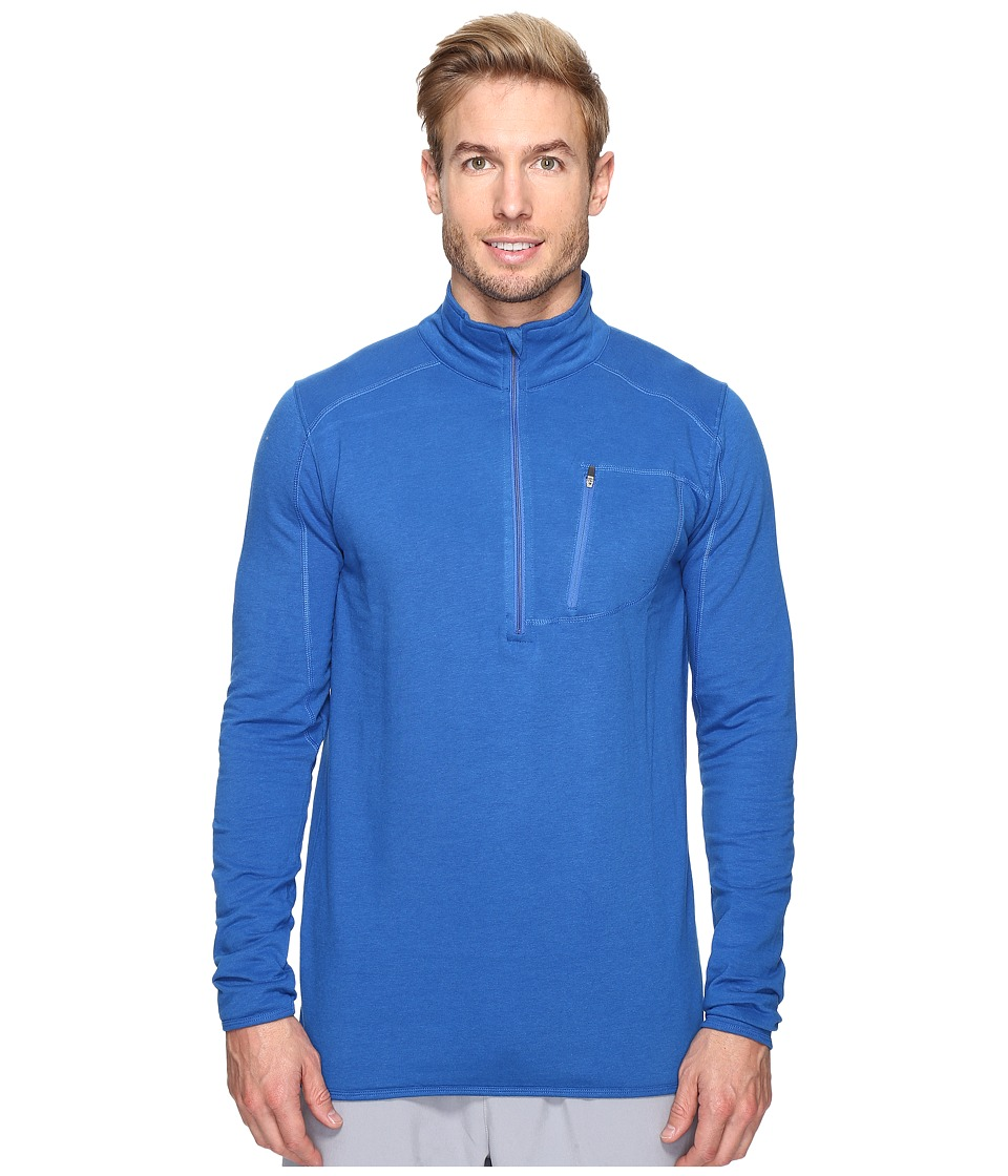 tasc Performance - Tahoe Fleece 1/2 Zip (Cobalt) Men's Long Sleeve Pullover