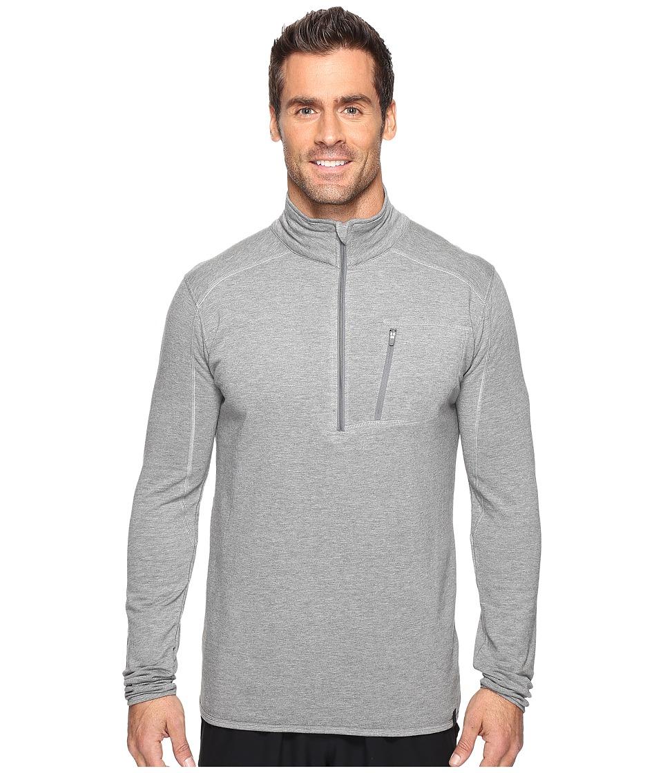 tasc Performance - Tahoe Fleece 1/2 Zip (Heather Gray) Men's Long Sleeve Pullover