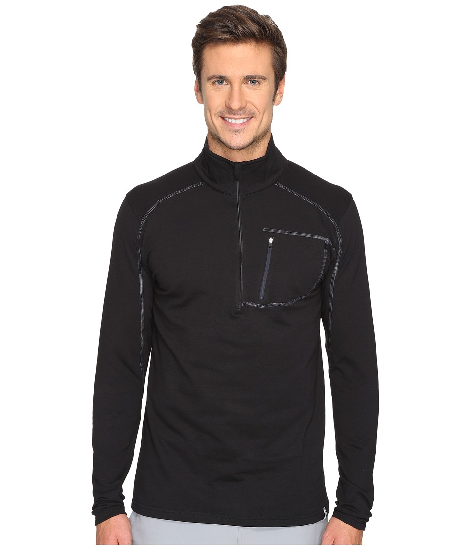 tasc Performance - Tahoe Fleece 1/2 Zip (Black) Men's Long Sleeve Pullover