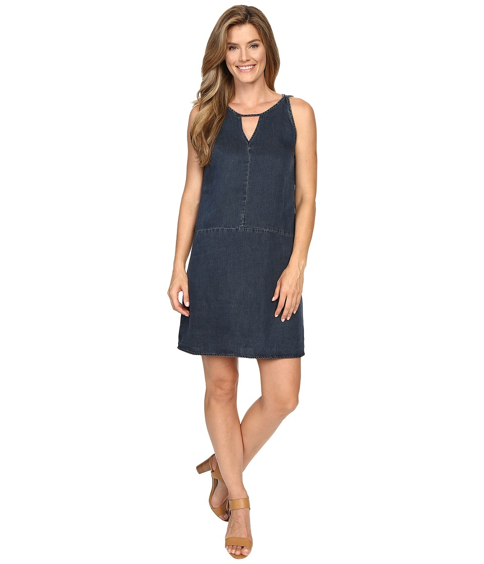 NIC+ZOE - A-Line Denim Dress (Indigo) Women's Dress