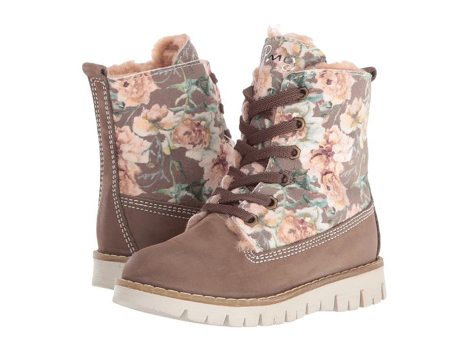 Primigi Kids - Tilly (Toddler/Little Kid) (Brown Floral Print) Girl's Shoes