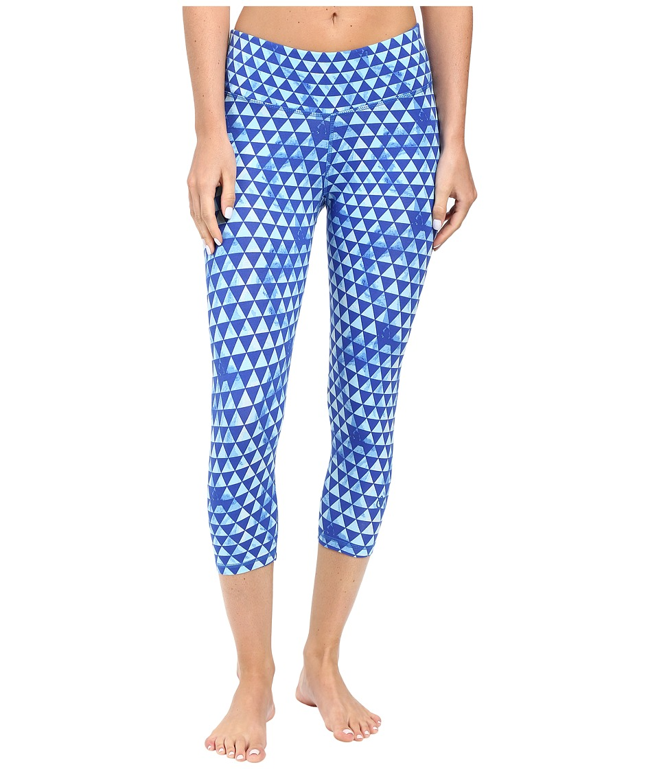 tasc Performance - Nola Crop Pants (Tribal Angles Dory Blue) Women's Casual Pants