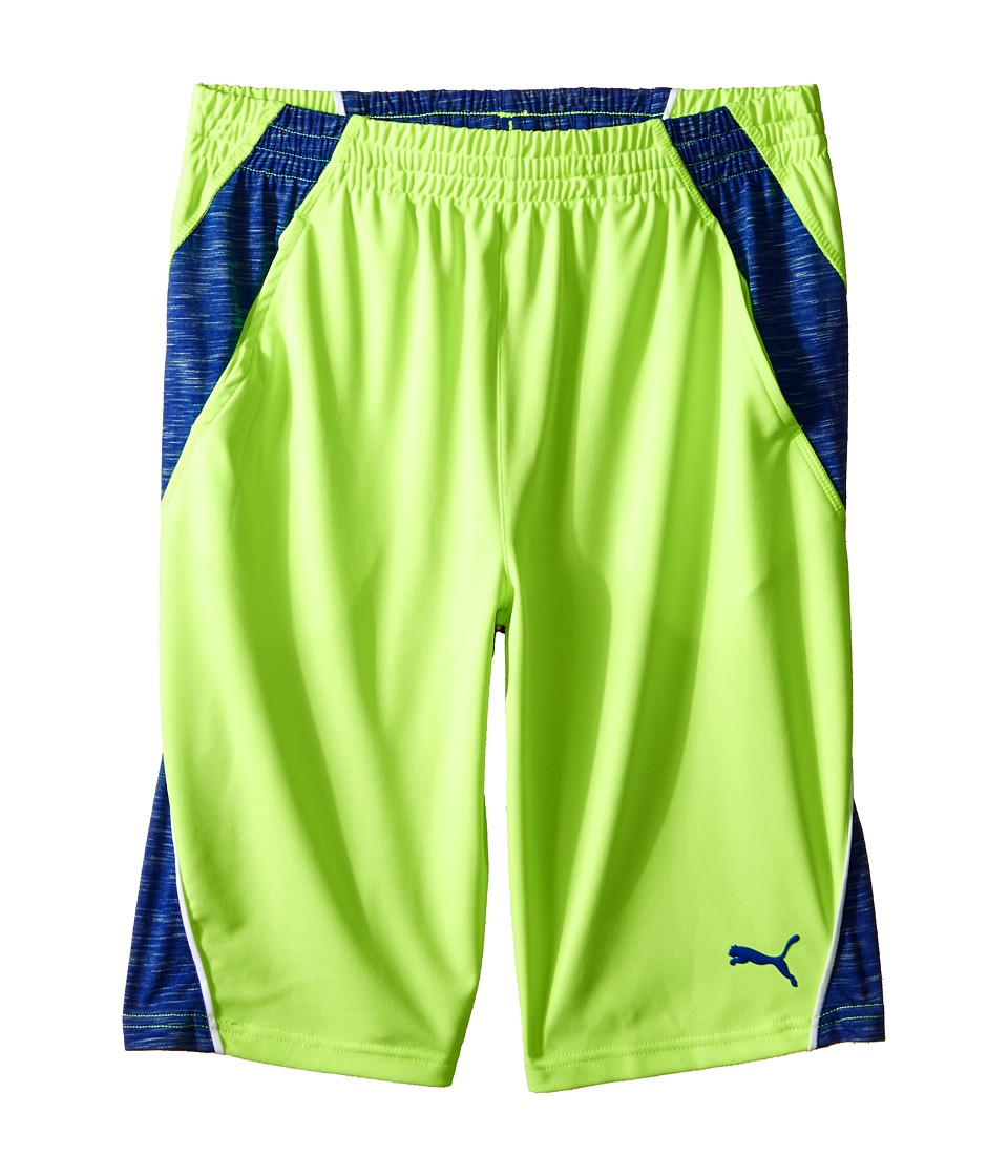 Puma Kids - Mixed Blocked PUMA Shorts (Big Kids) (Active Green) Boy's Shorts