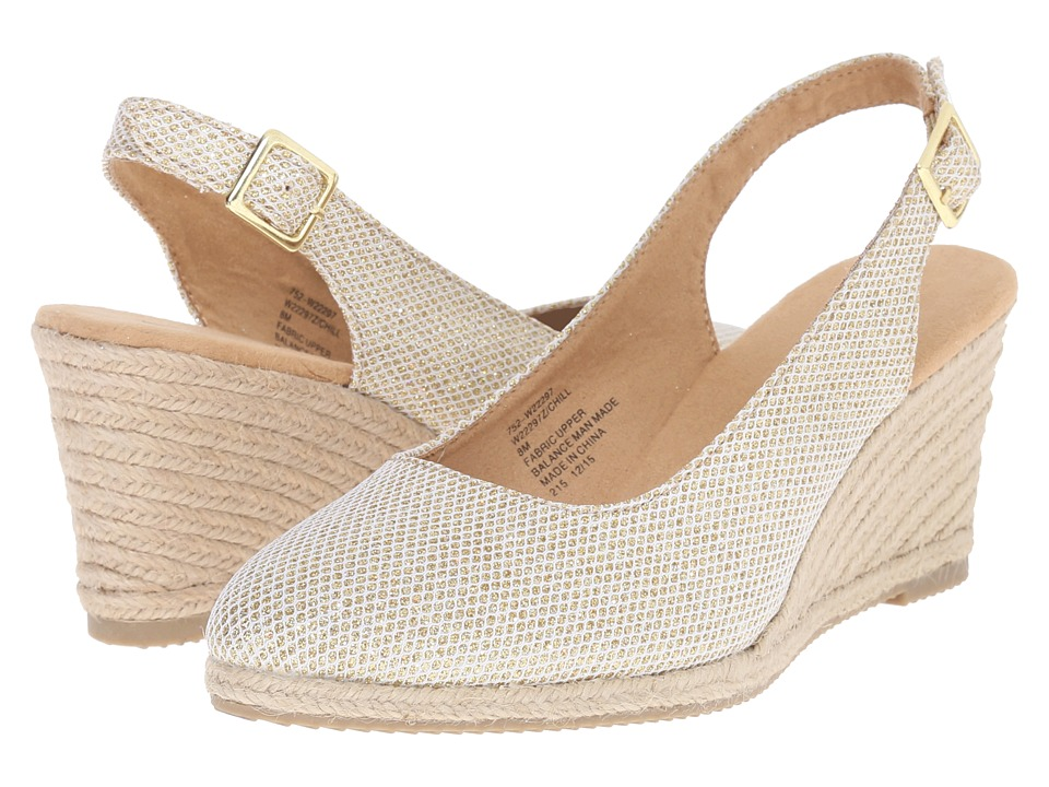 White Mountain - Chill (Gold Glitter) Women's Wedge Shoes