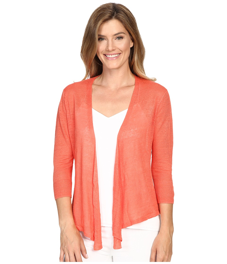 NIC+ZOE - 4 Way Cardy (Coral Sun) Women's Sweater