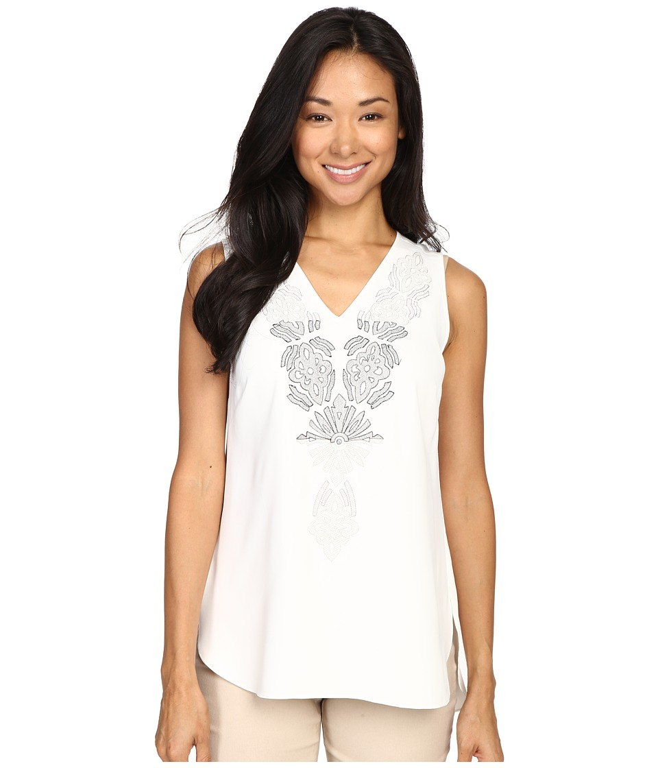 NIC+ZOE - Lovely Lei Tank Top (Milk White) Women's Sleeveless