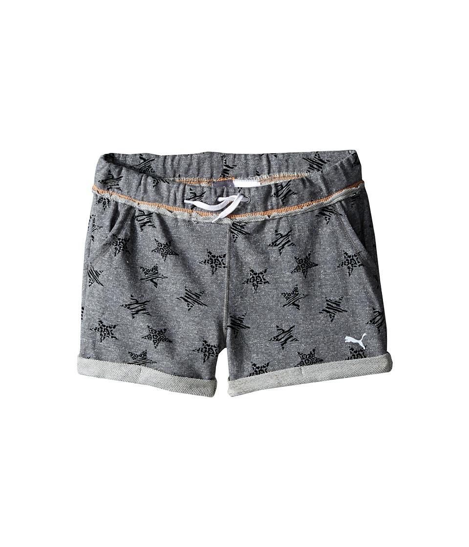 Puma Kids - Starry Cuffed Shorts (Big Kids) (Medium Heather Grey) Girl's Shorts