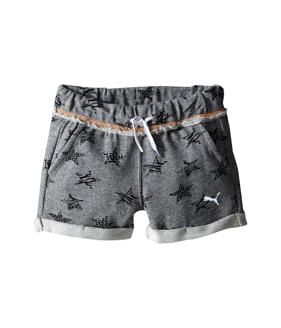 Puma Kids - Starry Cuffed Shorts (Little Kids) (Medium Heather Grey) Girl's Shorts