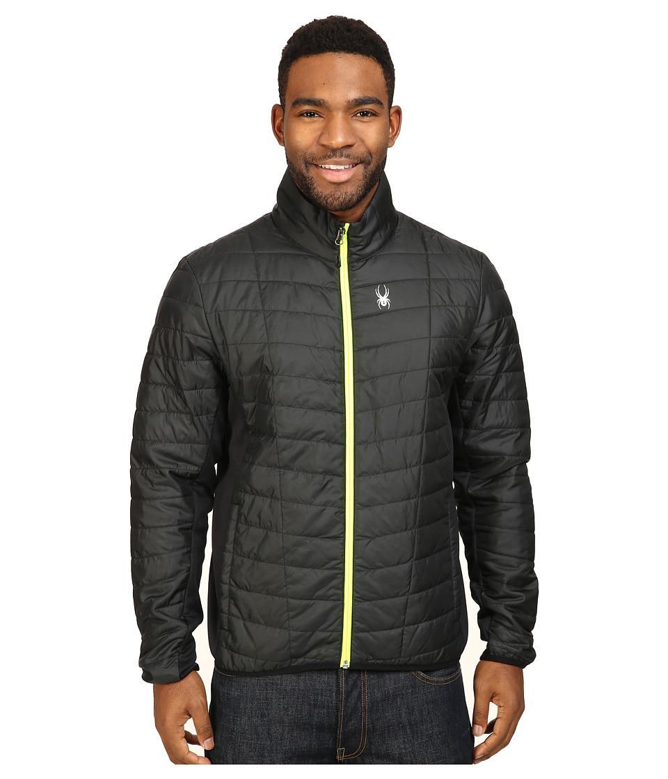 Spyder - Rebel Insulator Jacket (Black/Bryte Yellow) Men's Coat