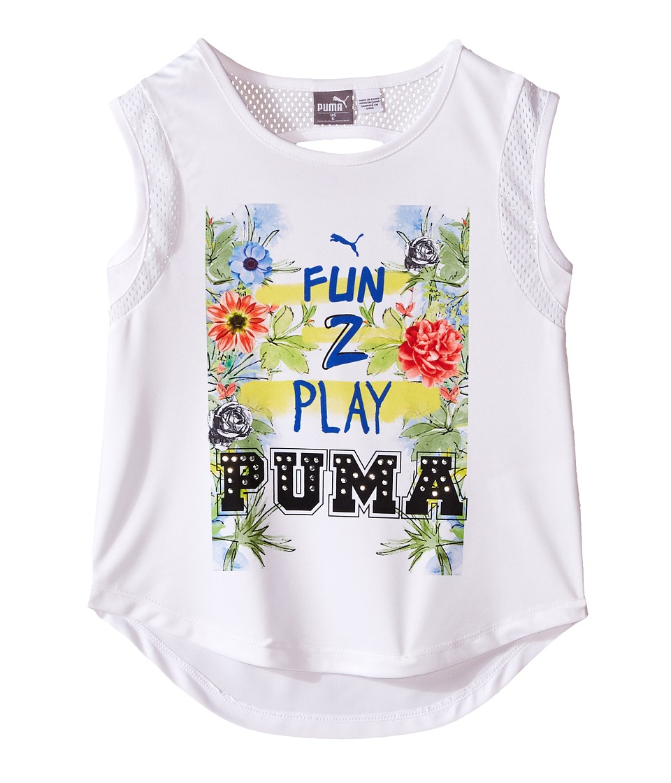 Puma Kids - Paradise Top (Little Kids) (PUMA White) Girl's Clothing