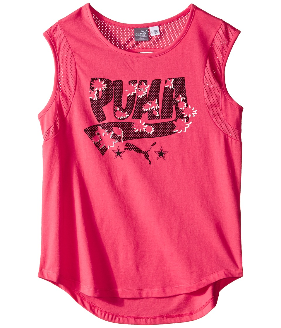 Puma Kids - Tropical Top (Big Kids) (Geranium) Girl's Sleeveless