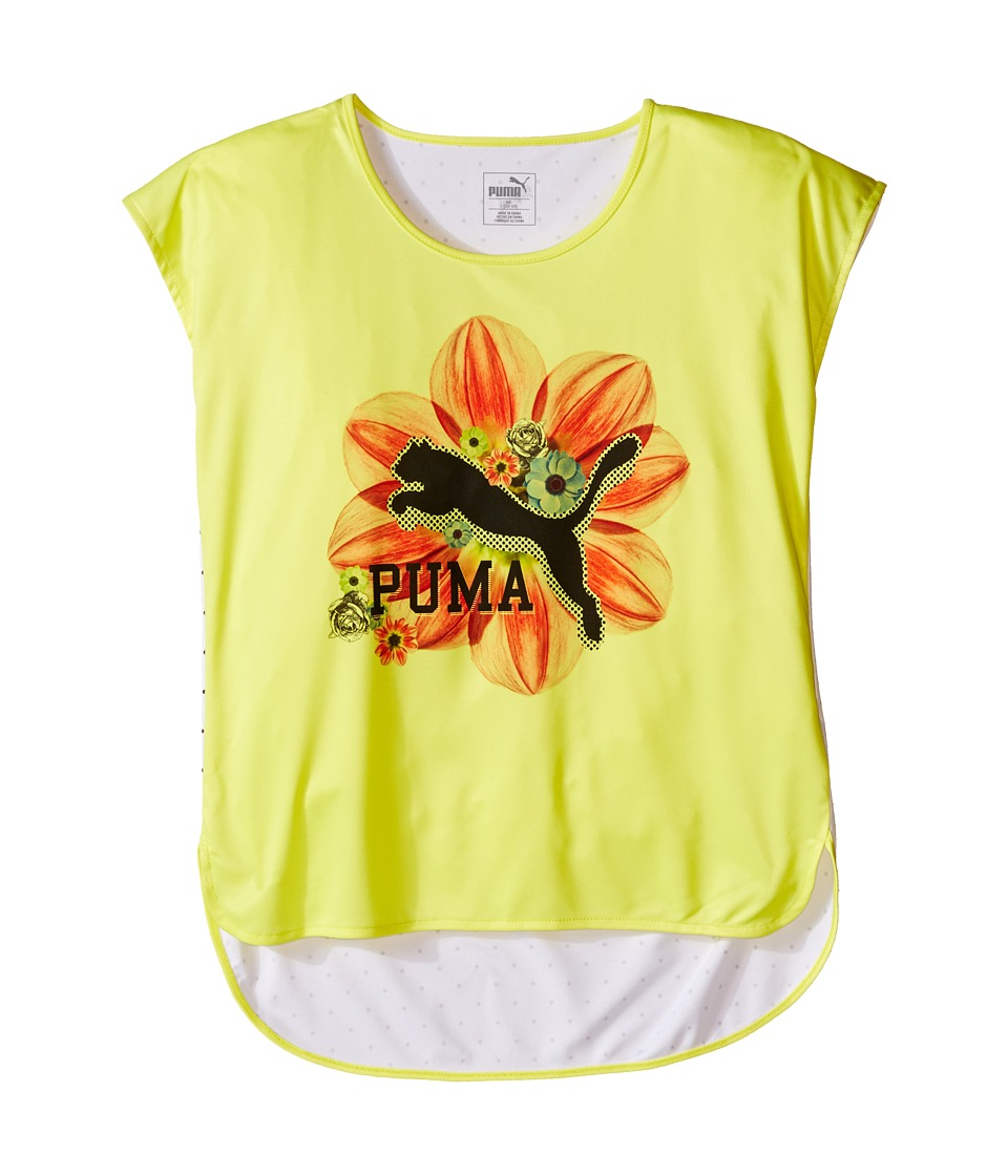 Puma Kids - Floral Top (Big Kids) (Lemon Tonic) Girl's Clothing
