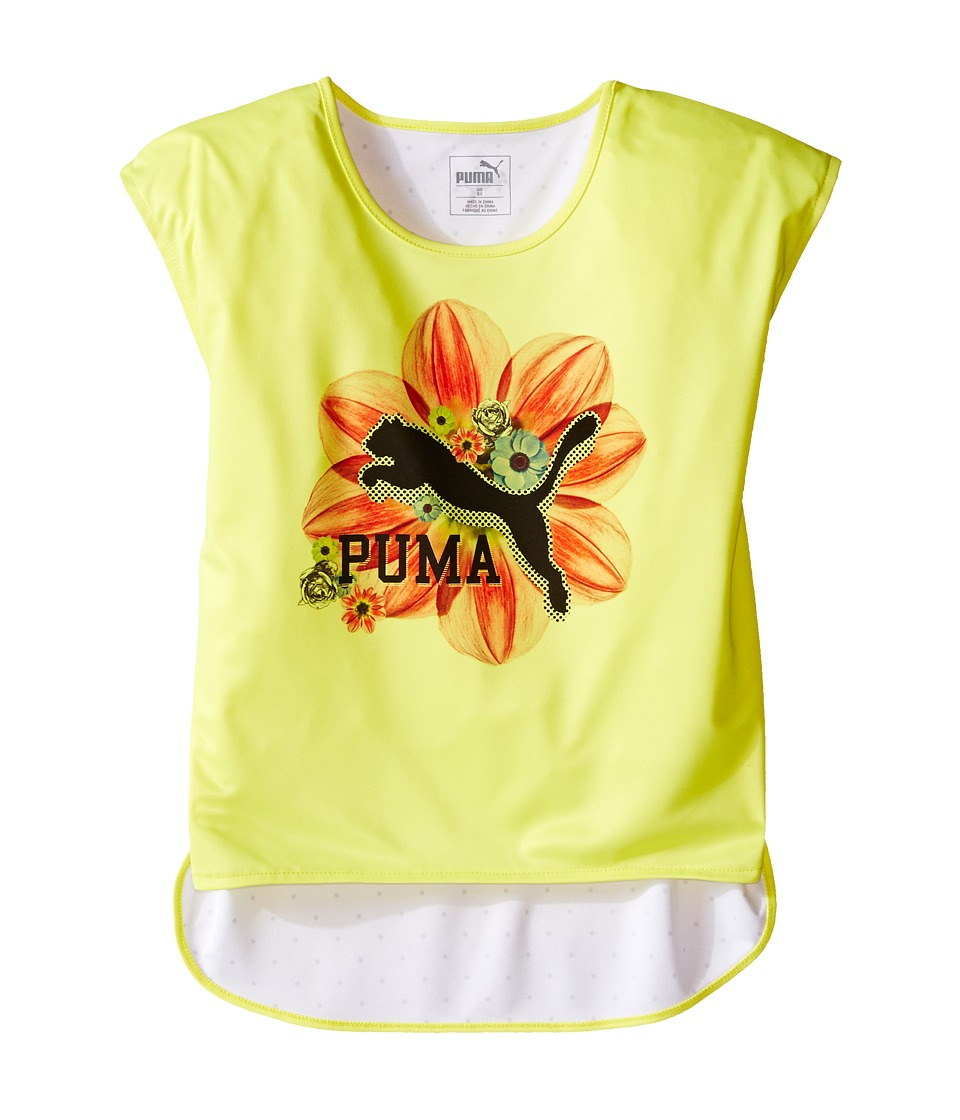 Puma Kids - Floral Top (Little Kids) (Lemon Tonic) Girl's Clothing