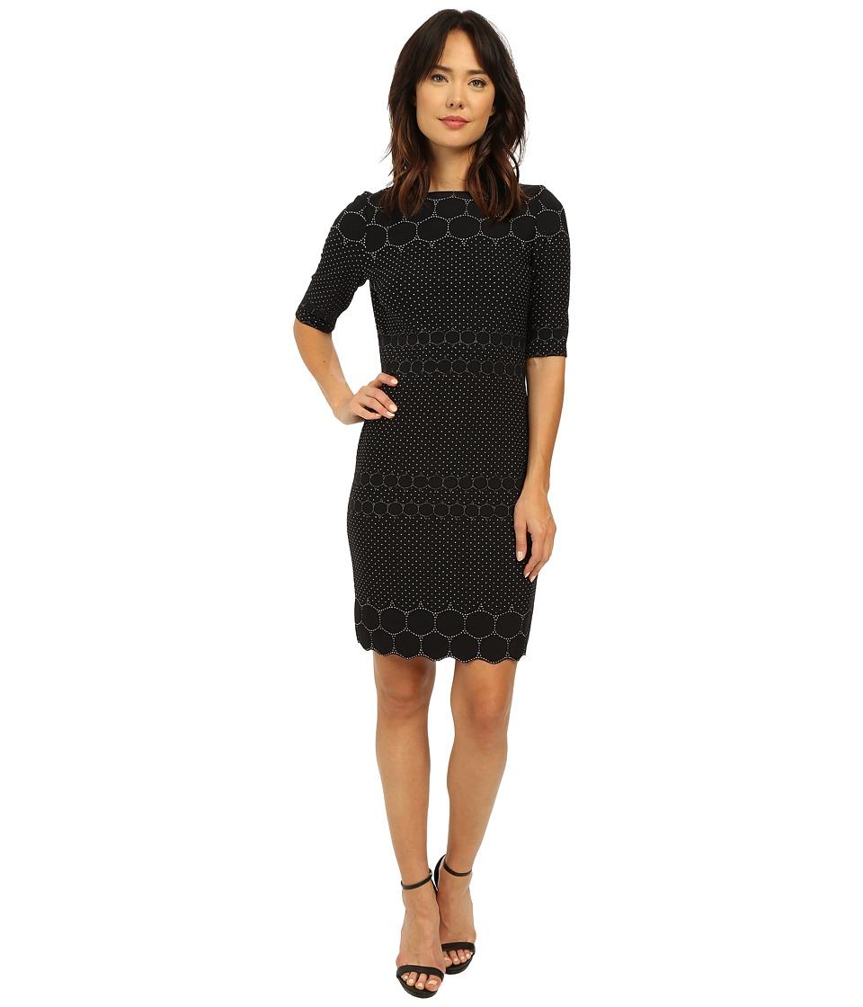 Christin Michaels Kayla Knit Dress (Black) Women