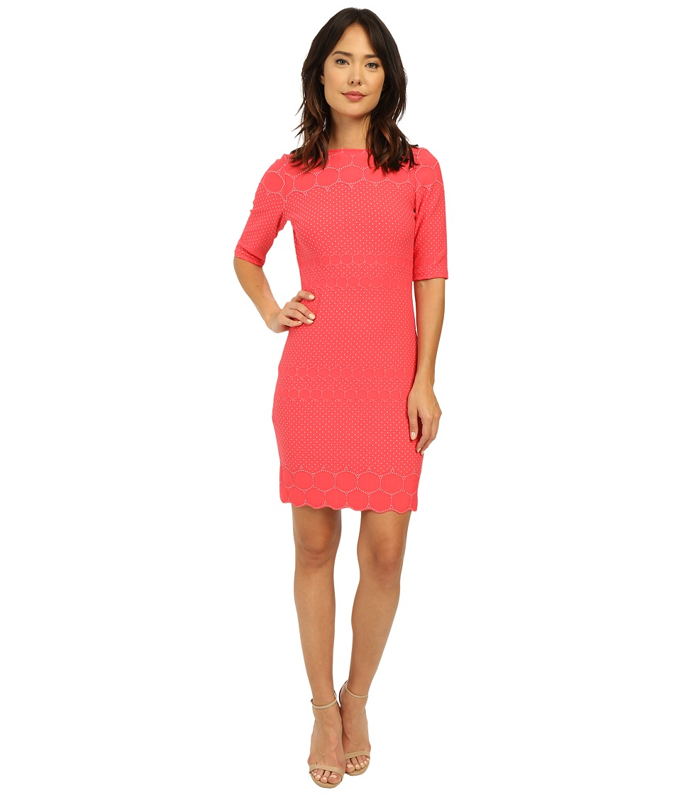Christin Michaels - Kayla Knit Dress (Coral) Women's Dress