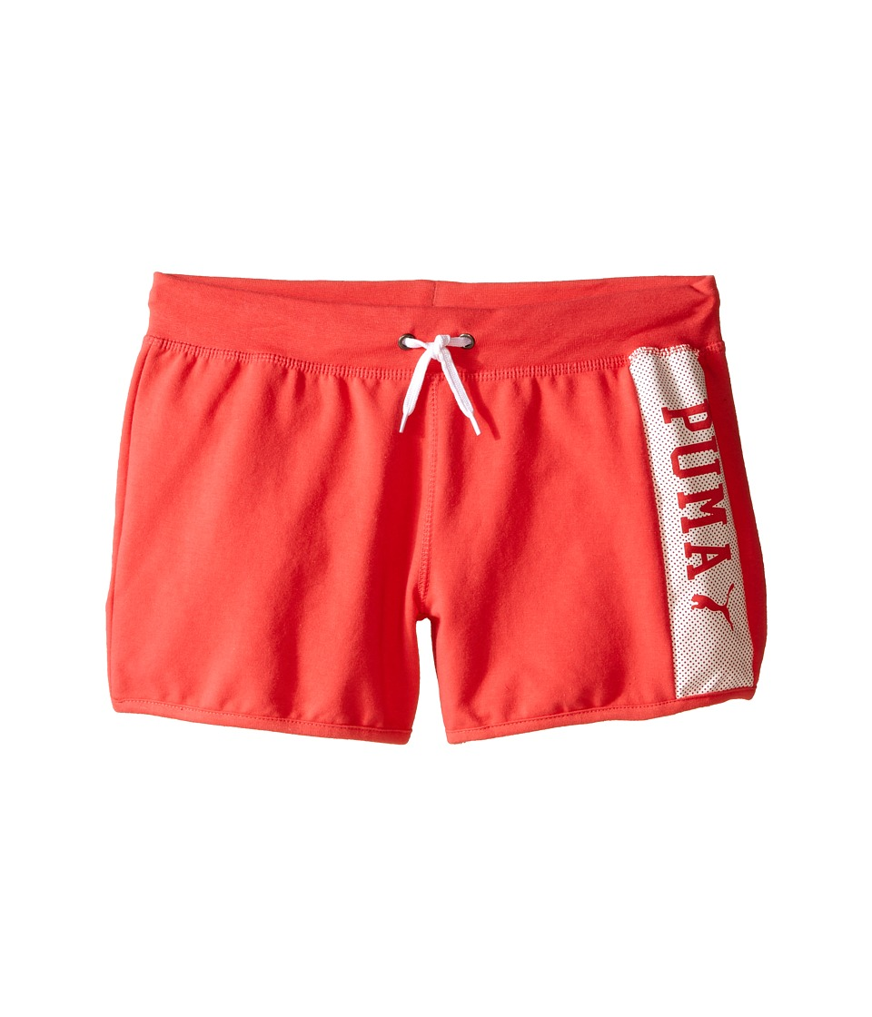 Puma Kids - PUMA Active Shorts (Big Kids) (Geranium) Girl's Shorts