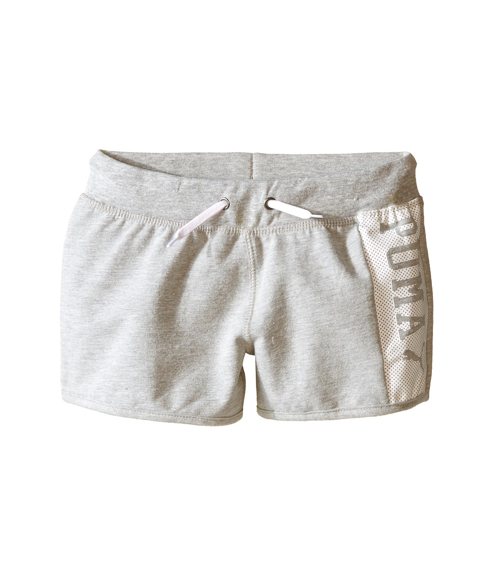 Puma Kids - PUMA Active Shorts (Big Kids) (Light Heather Grey) Girl's Shorts