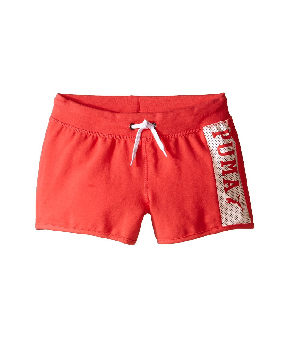 Puma Kids - PUMA Active Shorts (Little Kids) (Geranium) Girl's Shorts