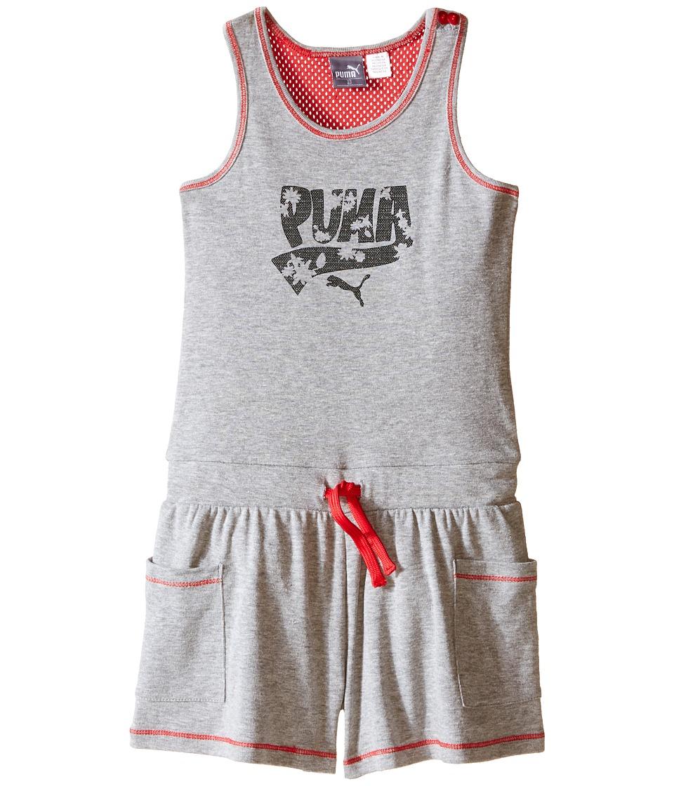 Puma Kids - Romper (Little Kids) (Light Heather Grey) Girl's Jumpsuit & Rompers One Piece