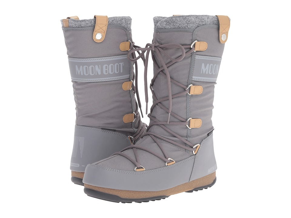 Tecnica - Moon Boot Monaco Felt (Grey) Women's Cold Weather Boots
