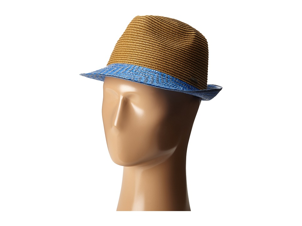 Roxy - Swim Deep Straw Fedora (Palace Blue) Traditional Hats
