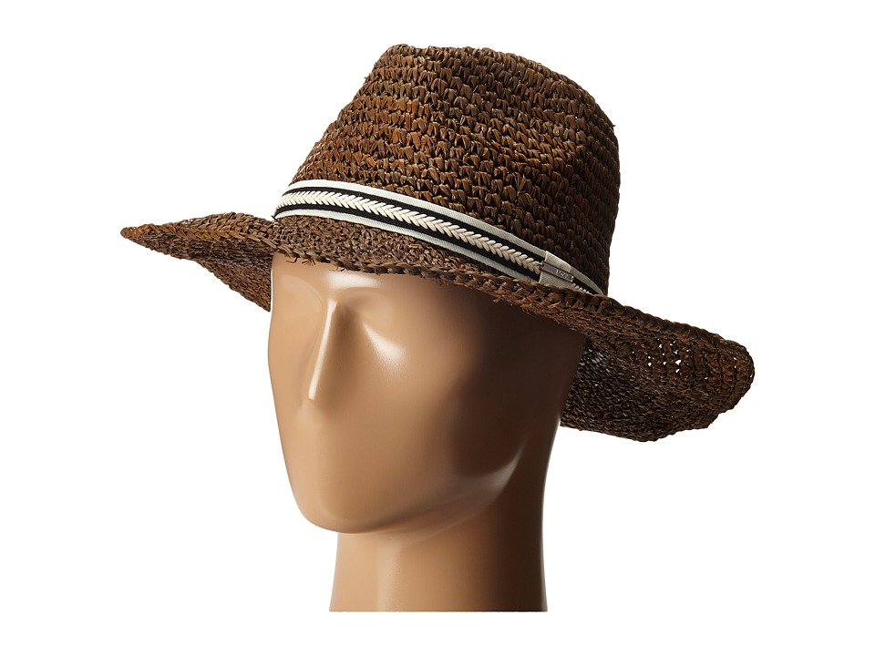 Roxy - Cantina Straw Fedora (Dark Brown) Traditional Hats