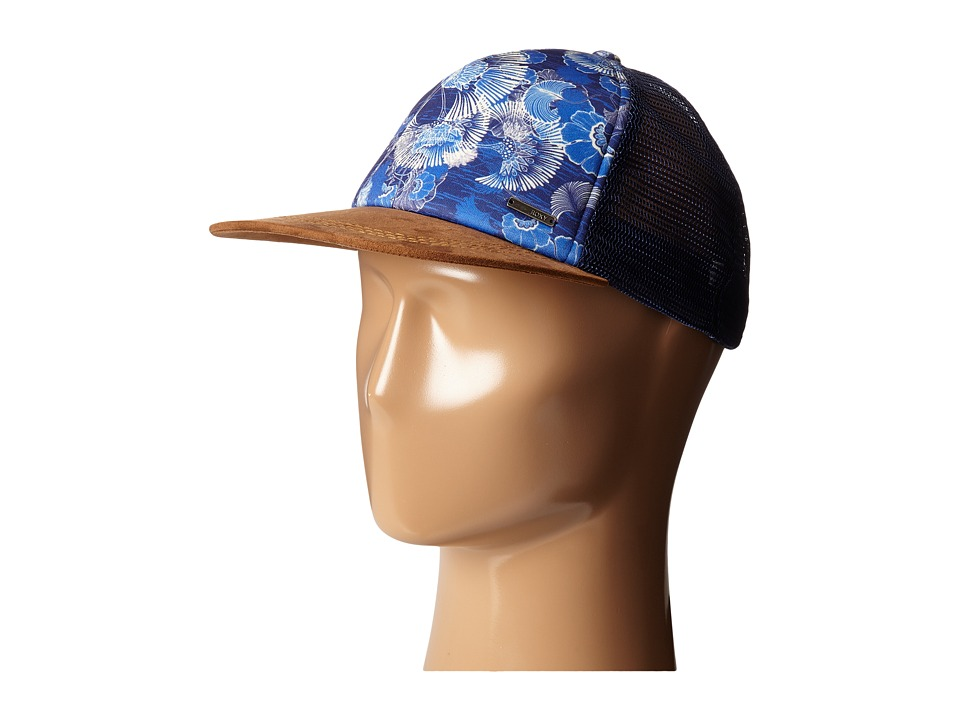Roxy - Once For All Trucker Hat (Perpetual Flower Blue Print) Caps