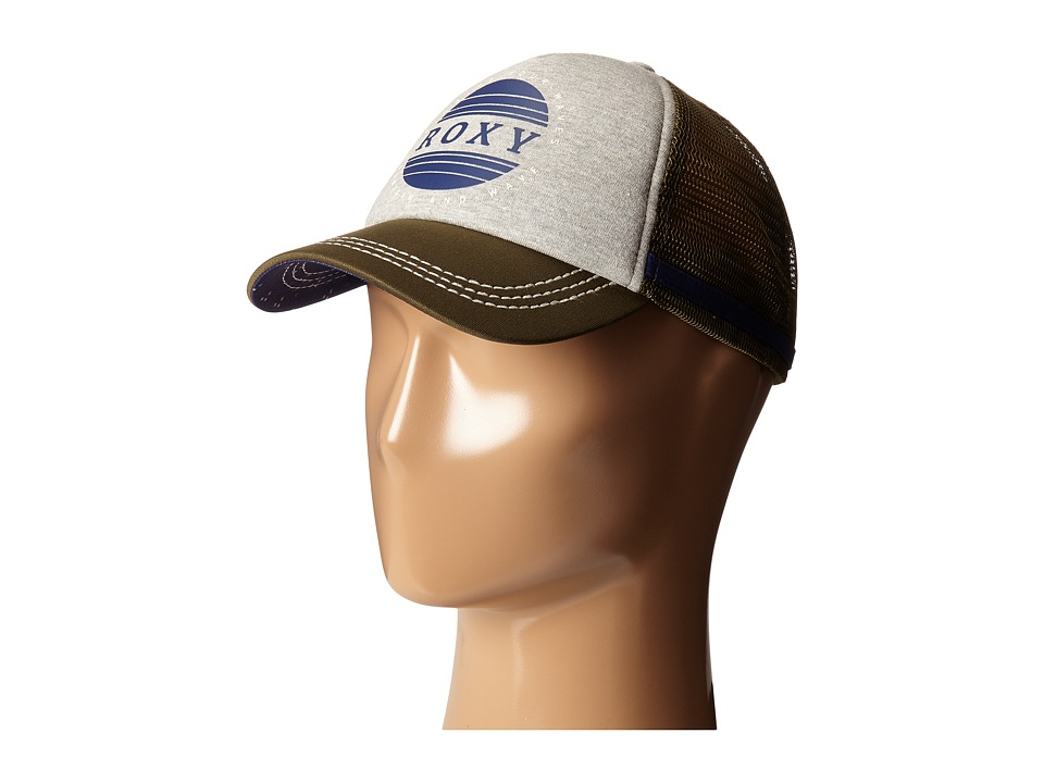 Roxy - Dig This Trucker Hat (Military Olive) Caps