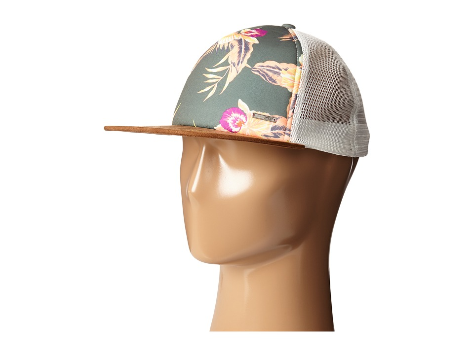 Roxy - Once For All Trucker Hat (Castaway Floral Duck Green) Caps