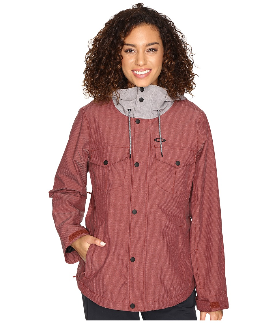 Oakley - Charlie Biozone Insulated Jacket (Fired Brick) Women's Coat