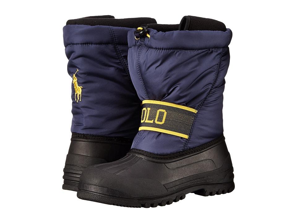 Polo Ralph Lauren Kids - Jakson (Big Kid) (Navy/Yellow) Kid's Shoes