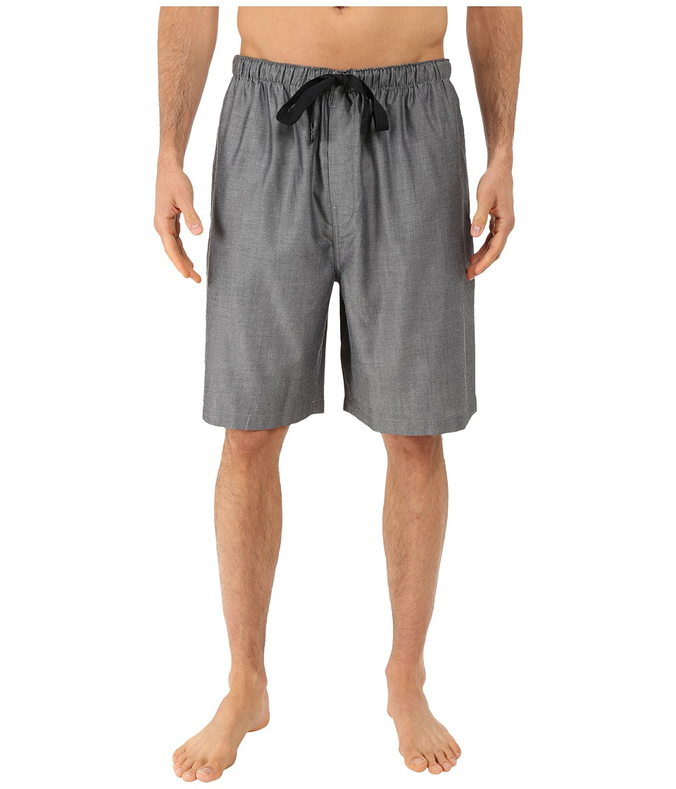 Jockey - Sleep Shorts (Black/White Crossdye) Men's Pajama