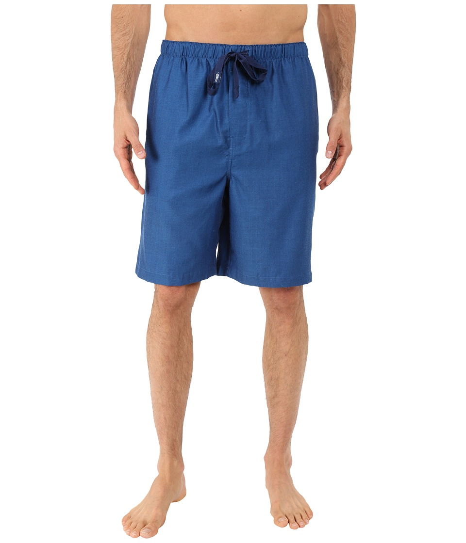 Jockey - Sleep Shorts (Navy/White Crossdye) Men's Pajama