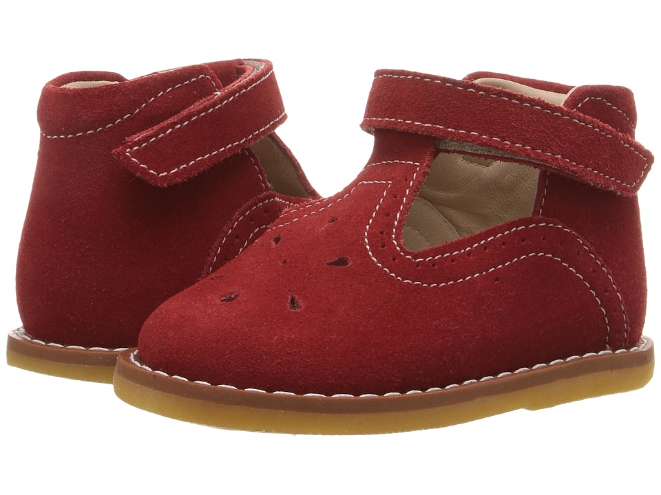 Elephantito Suede T Bar (Toddler) (Red) Girl