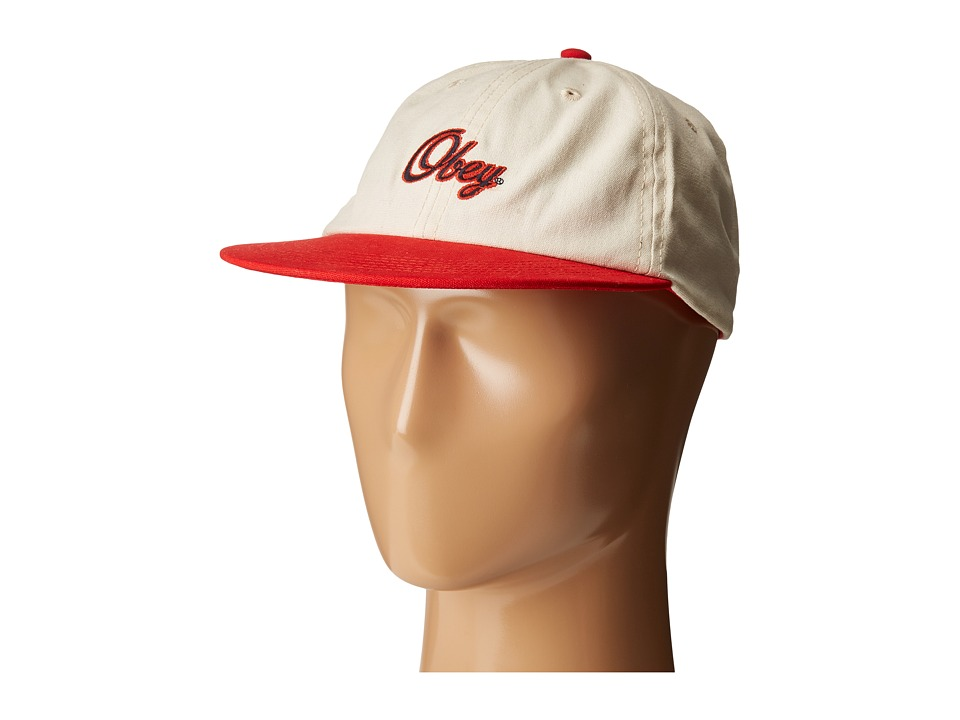 Obey - Walsh Hat (Natural/Red) Caps